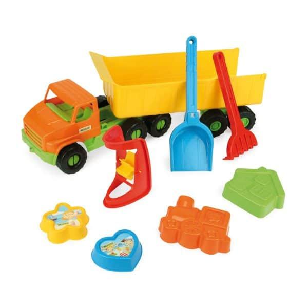 City Truck z naczepą z kompletem do piasku
